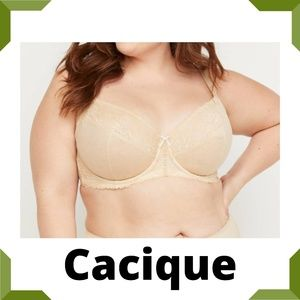 Cacique Lace Unlined Full Coverage Bra 36H